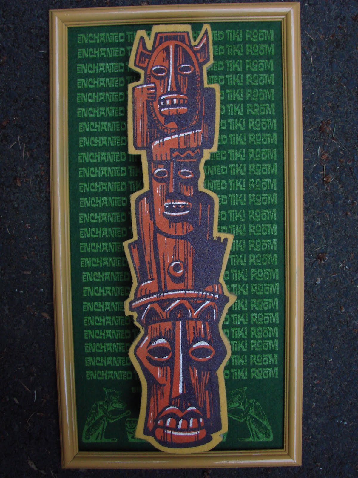 "Tiki Central art swap piece ""Enchanted Tiki Room"""