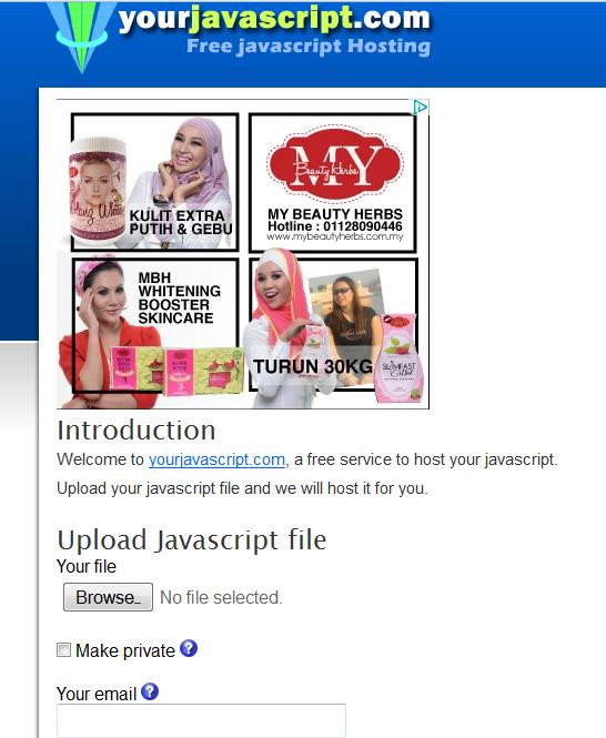 Google Code Ditamatkan, Semak Kod HTML Javascript Blog