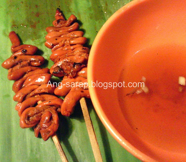 barbecued chicken intestine/isaw/IUD