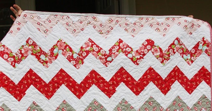 Zig Zag Quilt Without Triangles Girl Bedroom Beingbrook