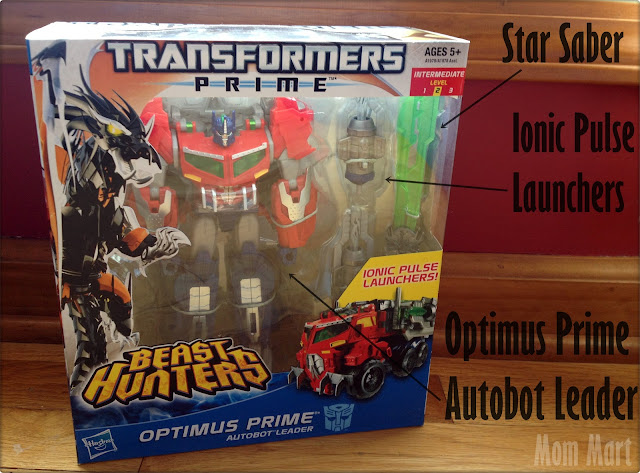 ransformers Prime Beast Hunters Voyager Class Optimus Prime Figure