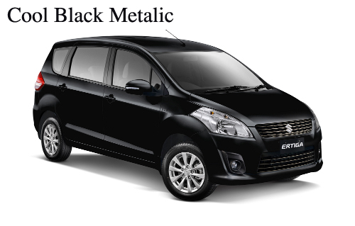 warna ertiga cool black metallic hitam