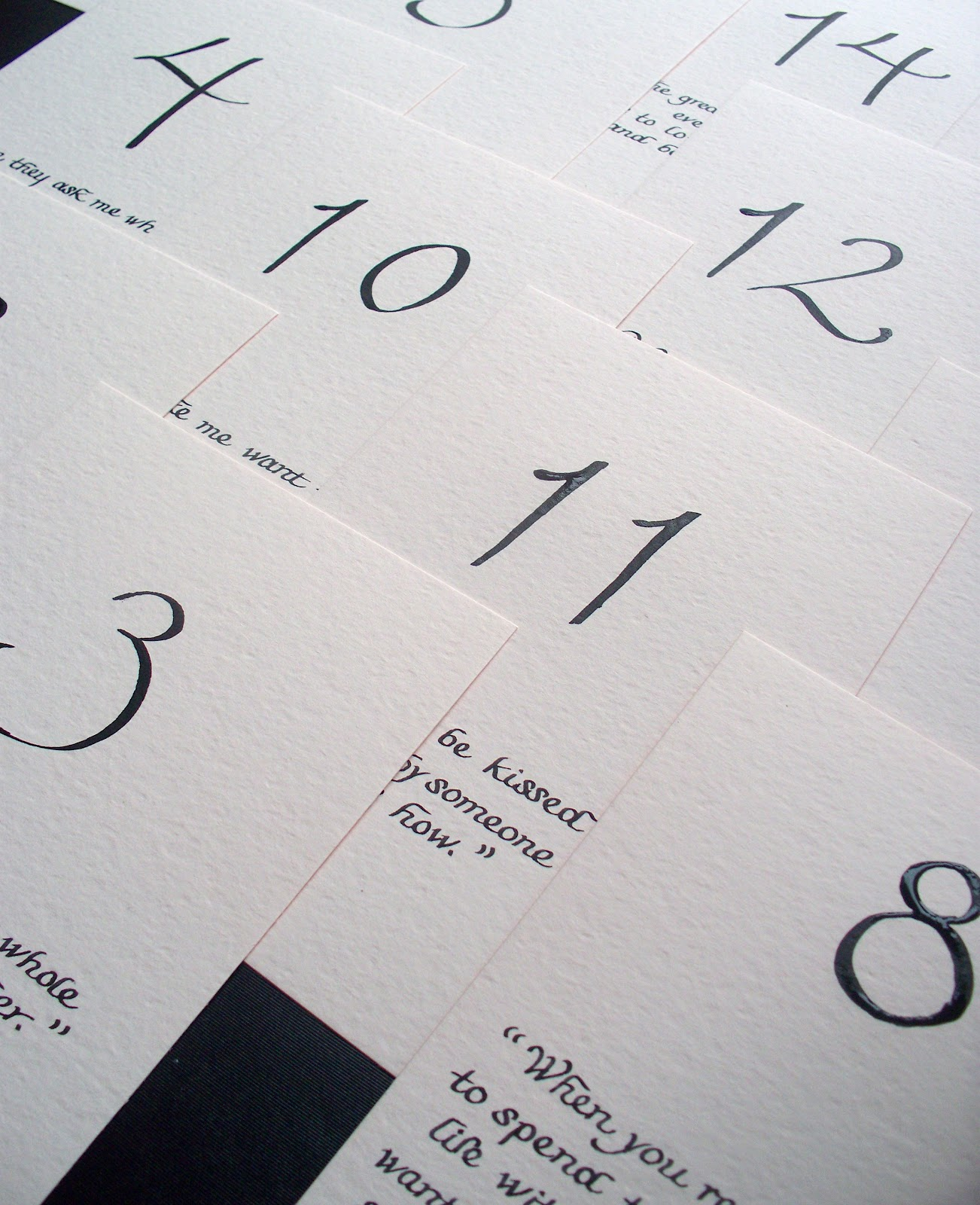 Calligraphy Numbers