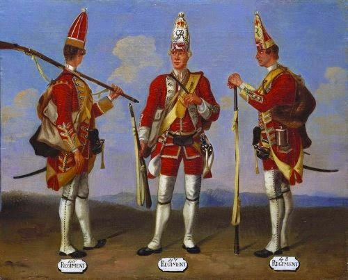 46th, 47th and 48th Regiments of Foot, Grenadiers, 1751