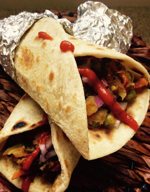 Vegetable FrankieIndian Breads, Stuffed Parathas & Wraps