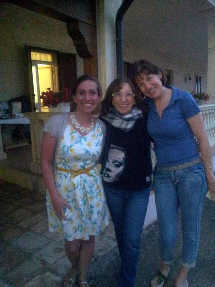 Io con Luciana Brini e Sabrina