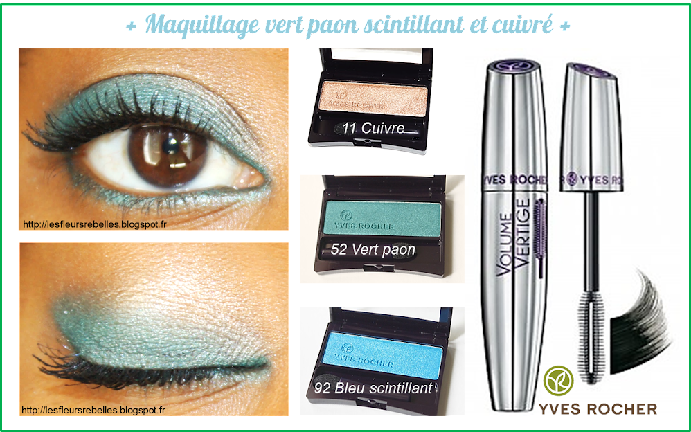 maquillage yeux bleu vert yves rocher nouveaut s mascara et fap. Black Bedroom Furniture Sets. Home Design Ideas