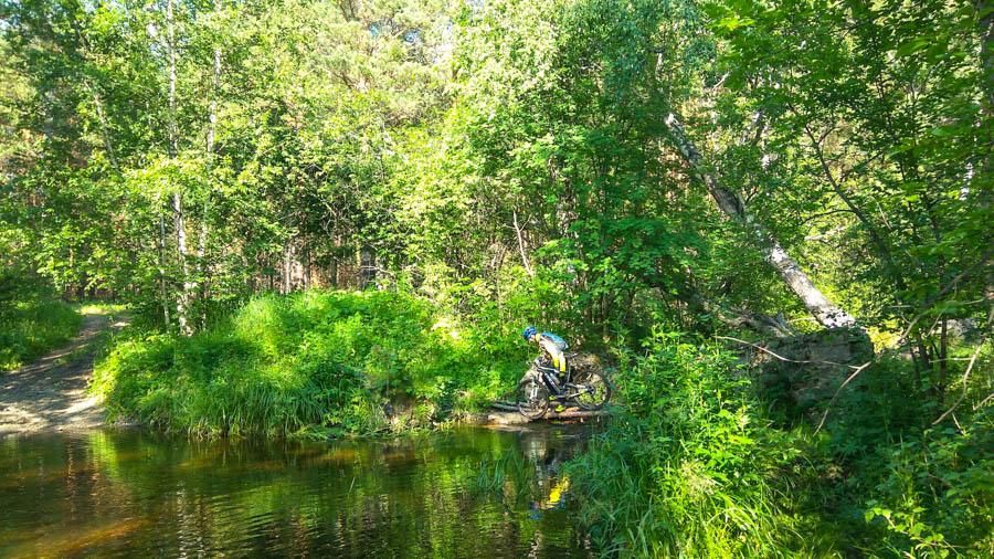 Какими то лесами, через Сыростан