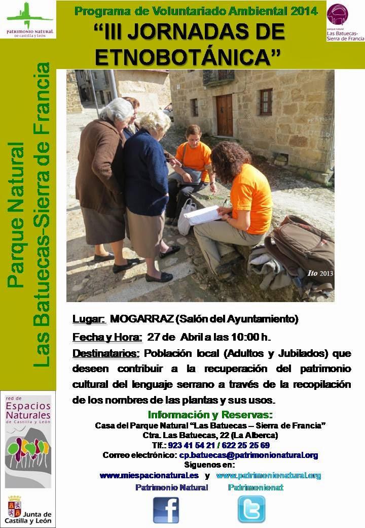 27/Abril. III Jornada de etnobotánica. Mogarraz