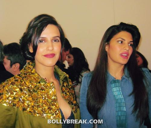 Jacqueline fernandez, neha dhupia together at an event - Jacqueline fernandez, neha dhupia Real Life Pics from an Event