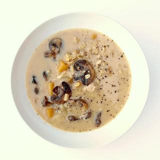 Sautéed Mushroom & Rutabaga Soup