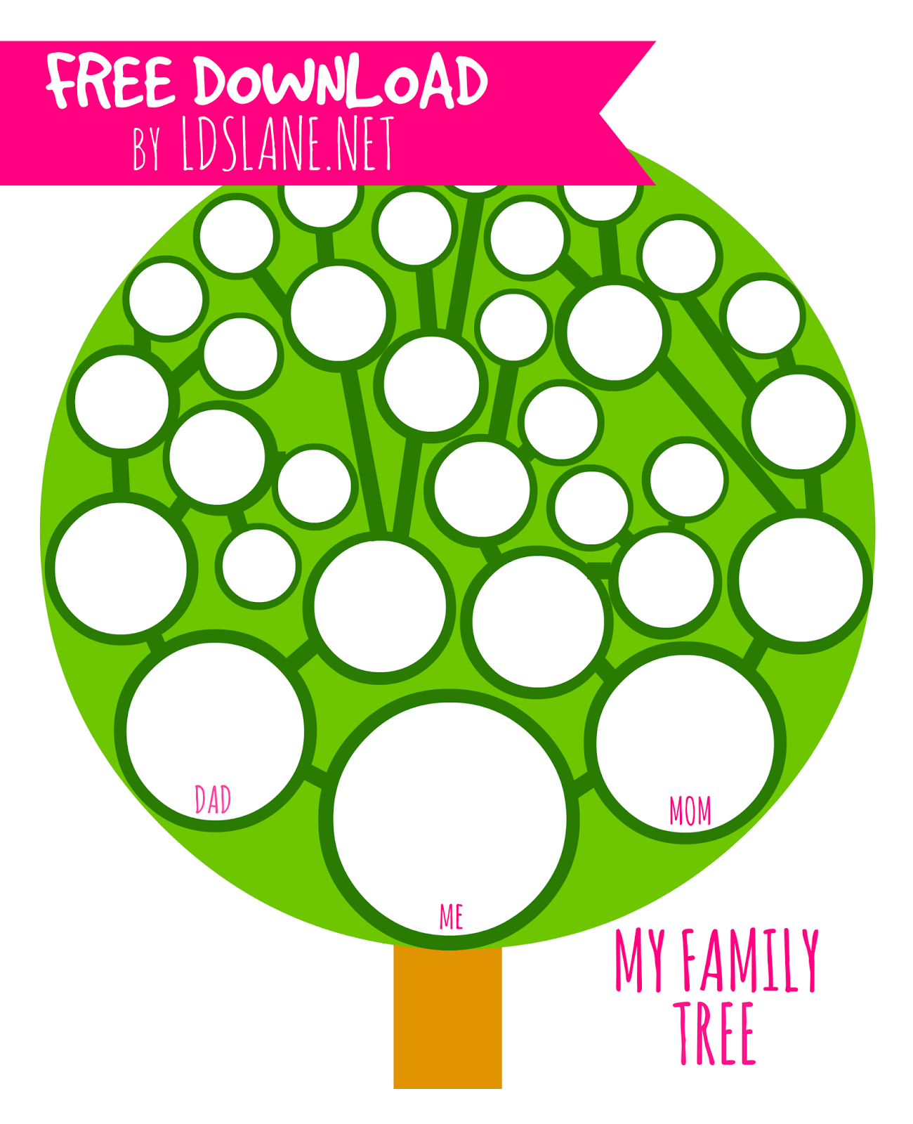 It's just a picture of Légend Family Tree Printout