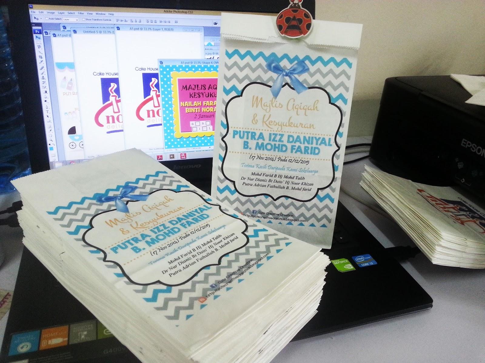 Goodies bag murah for Idea doorgift untuk aqiqah