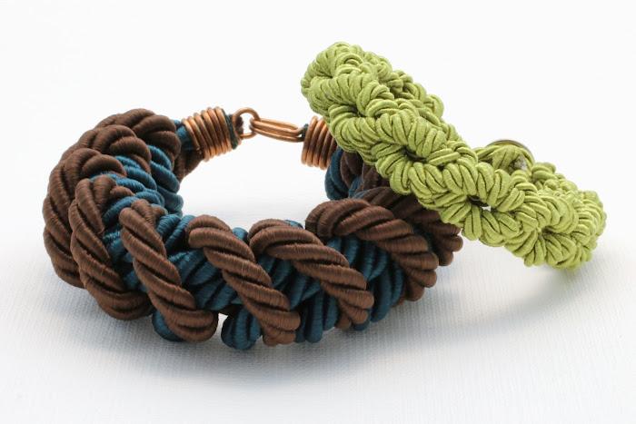 bransoletki - makrama - sznurek skręcany