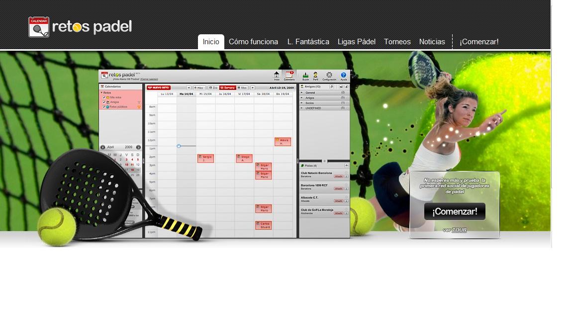 web para deportistas