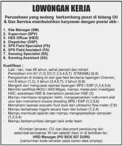 Perusahaan Bidang Oil dan Gas Service