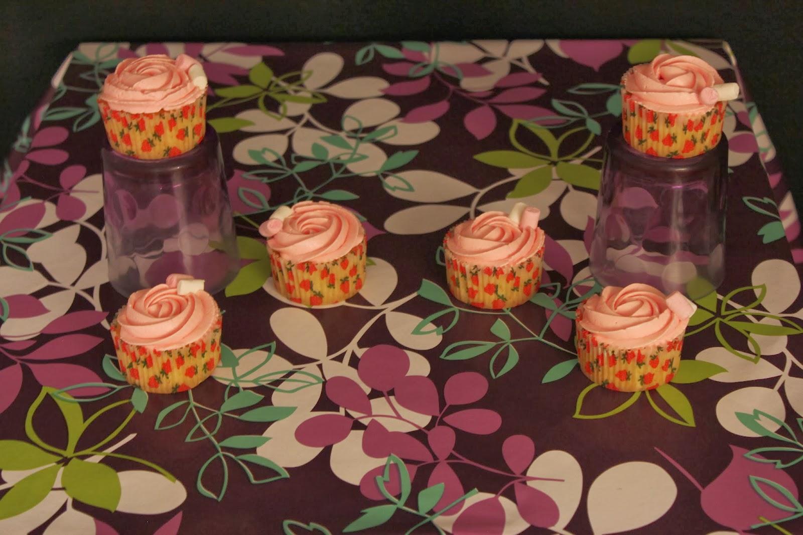 Cupcakes de algodón de azúcar, receta reducida y cupcakes viajeros ...