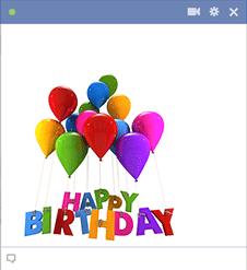 Birthday Balloons Facebook Sticker