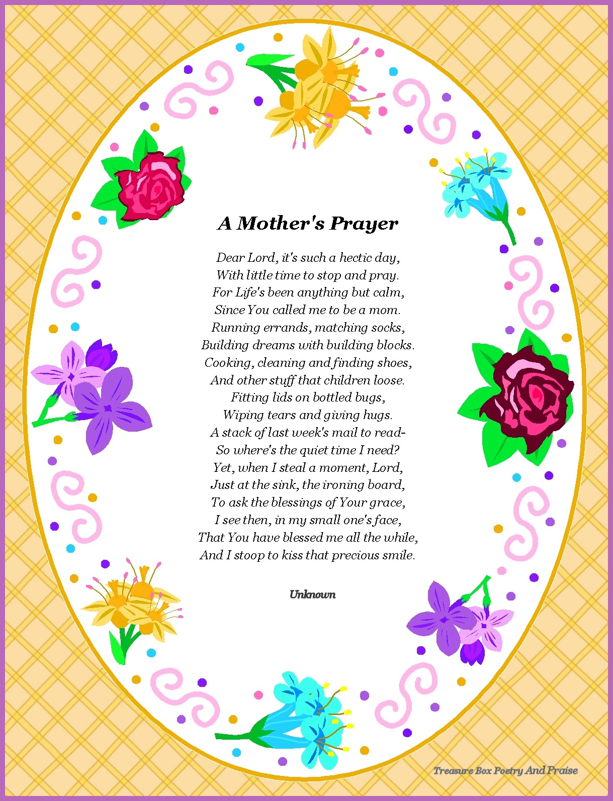 Missing Mother Poem http://singanewsongpoetry.blogspot.com/2012/03/mothers-prayer-poem-poster.html