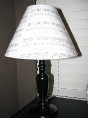 Sheet music lampshade