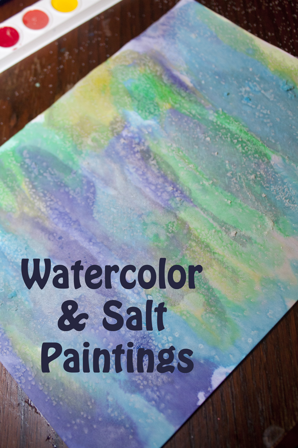 Painting with Watercolors and Salt