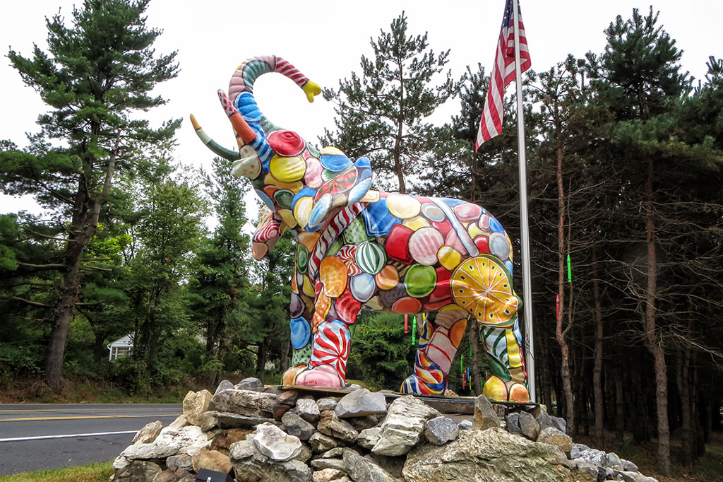 Large Elephant Statue at Mister Ed's