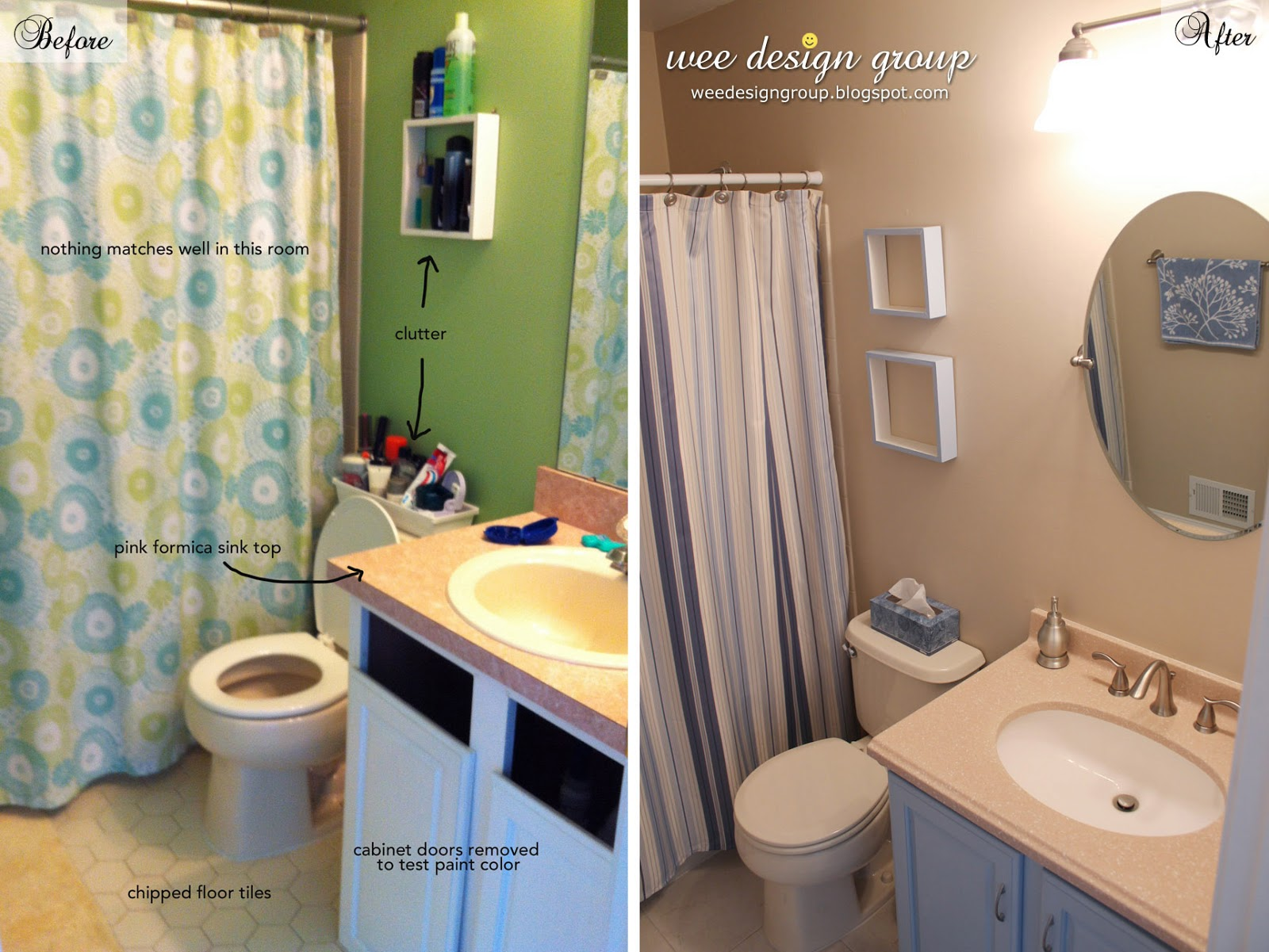 Upstairs Bathroom Makeover Finally Finished Wee Design Group