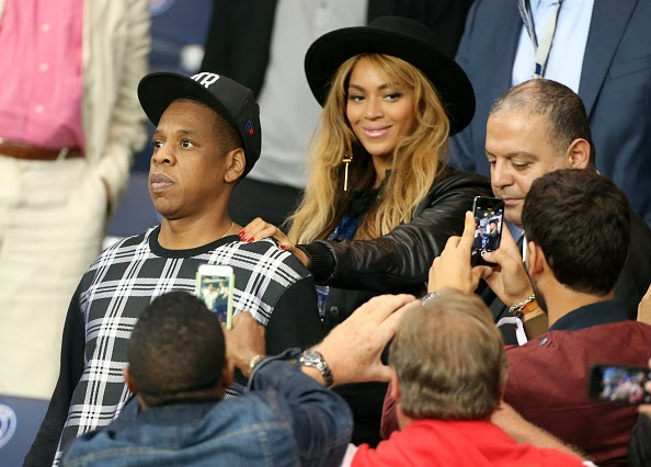 Parc des Princes were seen Jay Z and Beyonce