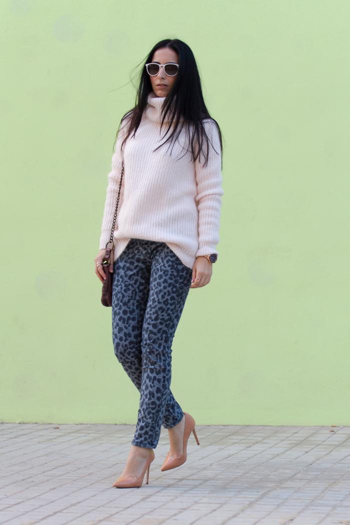 Jeans Azul lavado estampado leopardo B-SIDE modelo EMMA  MELTIN' POT