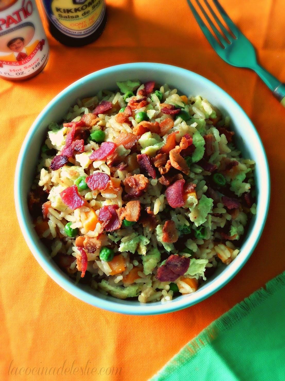 Arroz Frito con Tocino - lacocinadeleslie.com