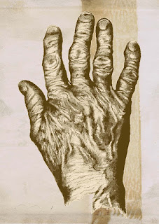Drawing of my mother's hand, by Natalie Schorr