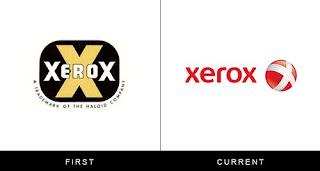 évolution du logo xerox