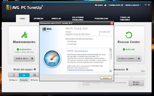 podemos usar el AVG PC Tuneup 2014 para Limpiar y Ordenar nuestro PC