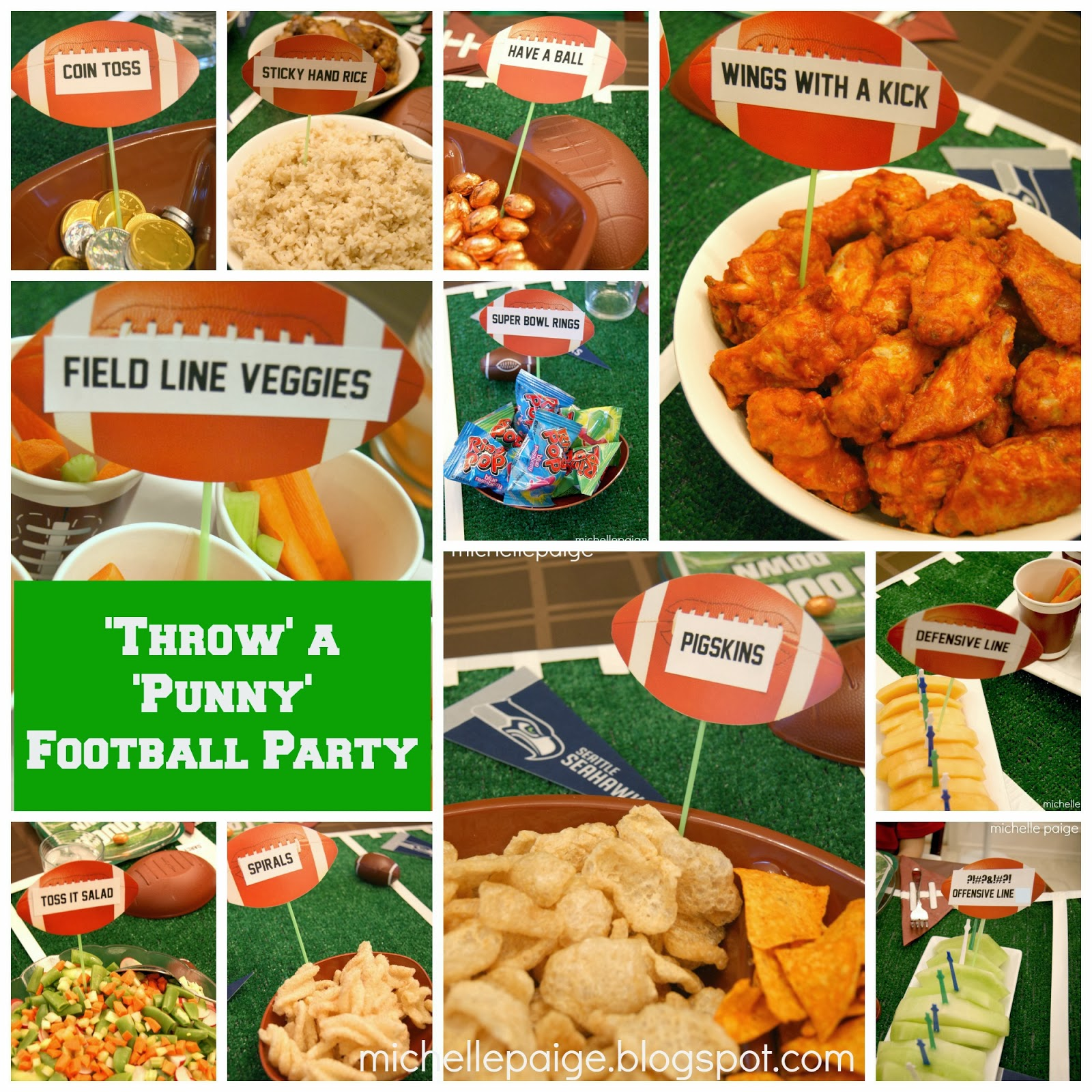 Michelle Paige Blogs Throw A Punny Football Party
