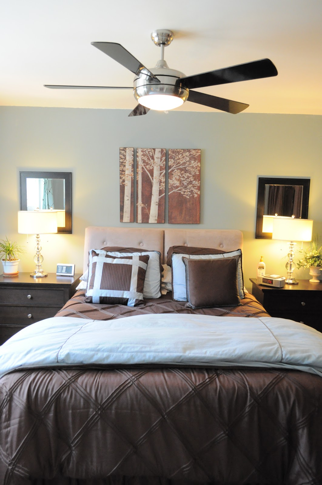 Soft. Our master bedroom  tricks to make it feel bigger   organized
