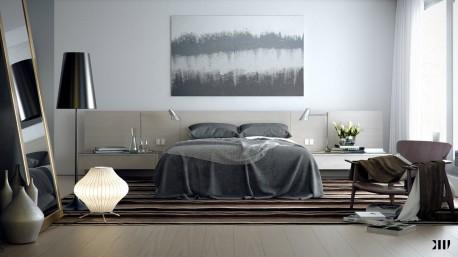 Tidur Lebih Nyaman Dengan Warna Kamar Tidur abu abu
