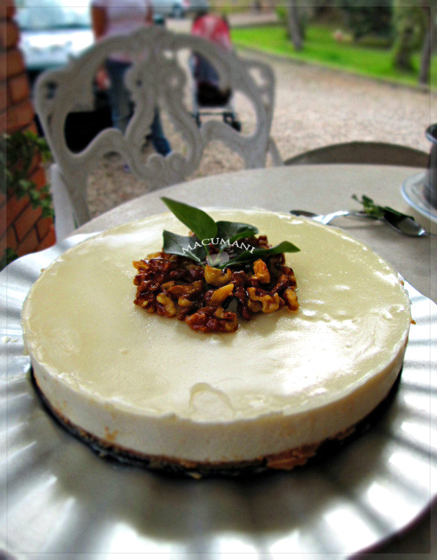 TARTA DE CHOCOLATE BLANCO Y QUESO