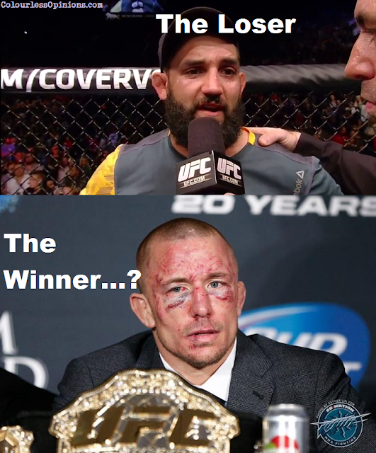 UFC 167 post-fight - Hendricks & GSP face meme