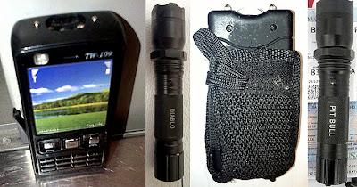 Stun Gun Cell Phone (ATL), Stun Torch (SAN), Stun Gun (ATL), Stun Torch (SAN)