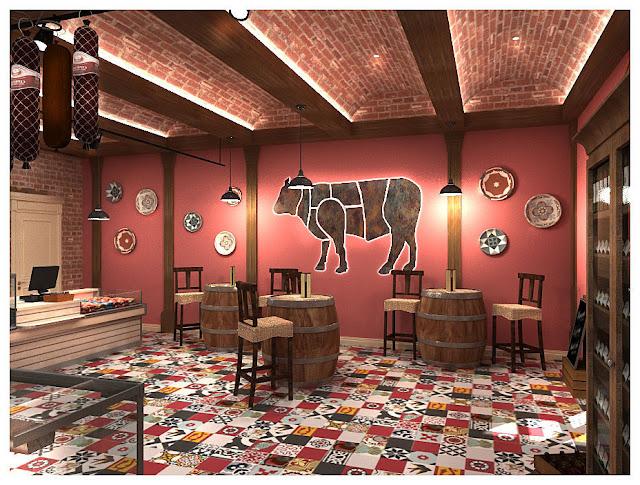 Дизайн магазина мясных полуфабрикатов, г.Москва