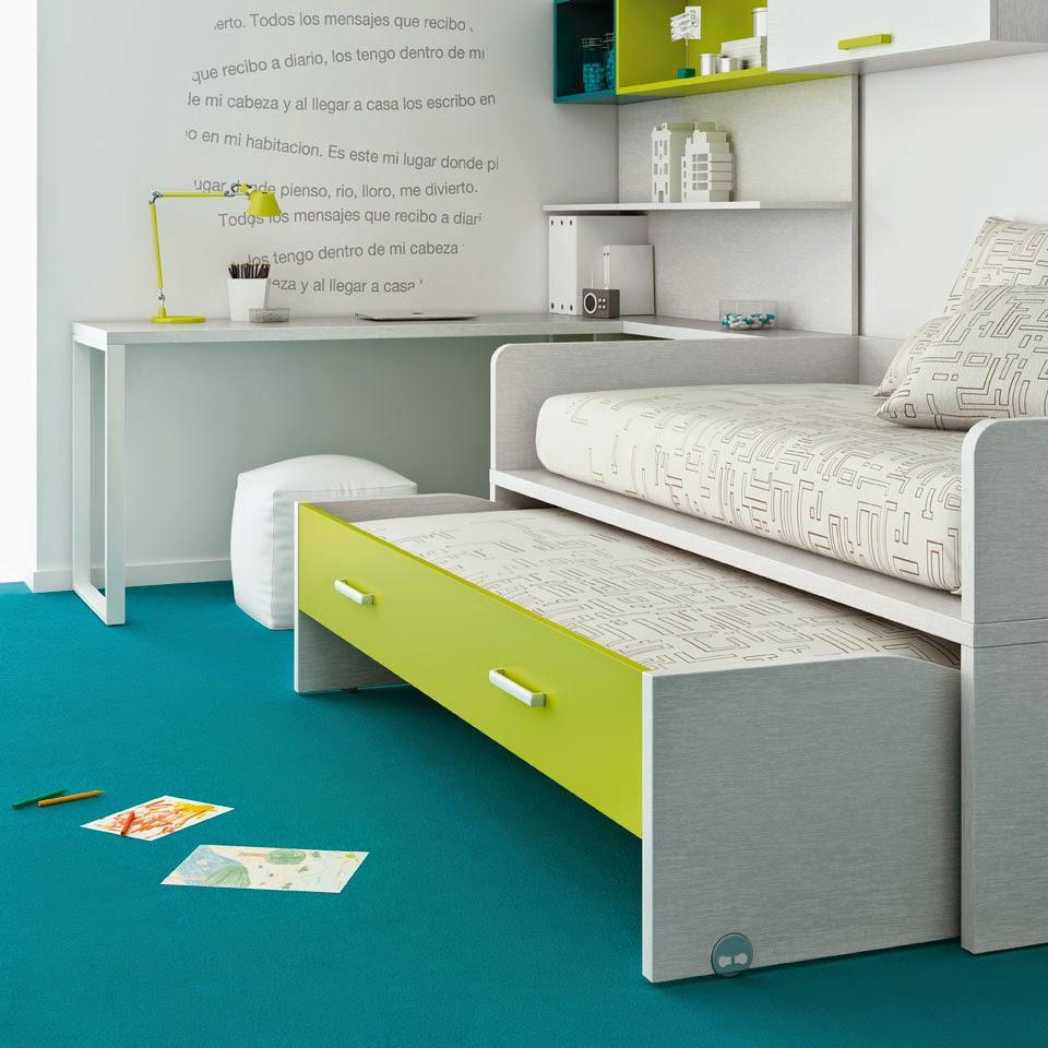 Muebles ros habitaciones peque as soluciones de espacio - Literas para habitaciones pequenas ...