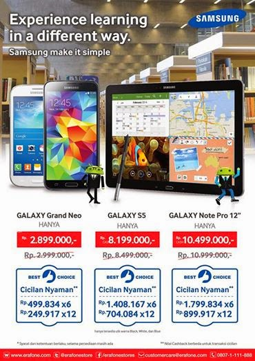 Promo Galaxy Grand Neo, S5 dan Note Pro 12