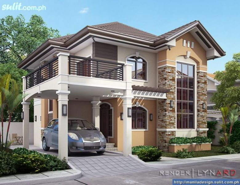 35 house photos with stone clad design for Philippine home designs ideas
