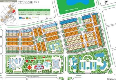 Mặt bằng thiết kế khu biệt thự villas
