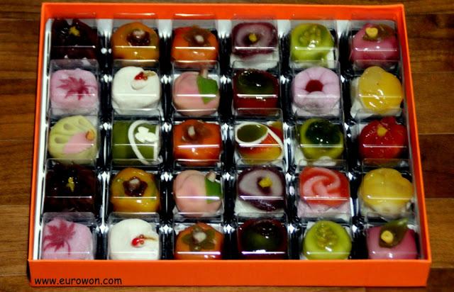 Pasteles de colores como regalo de Seollal