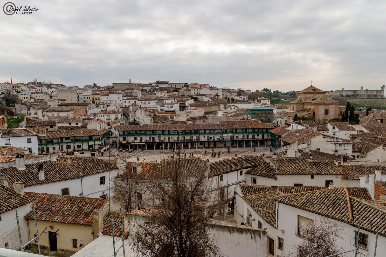 Vista de Chinchón desde la iglesia. Fotografía de Daniel Salvador