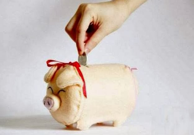 Diy fabric piggy bank the idea king for Make a piggy bank craft