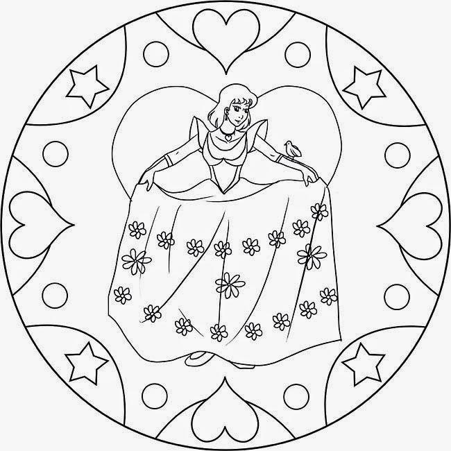 Ausmalbilder Mandalas Prinzessin