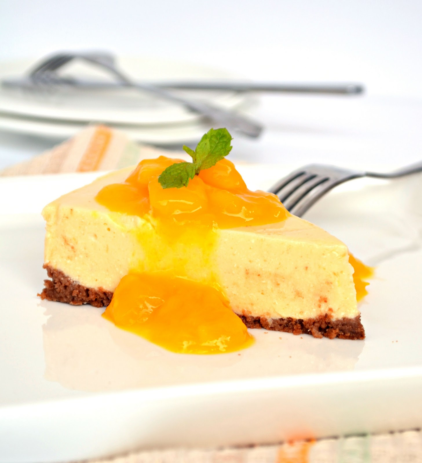 No Bake Mango Cheesecake with Mango Sauce | LOVE & other SPICES