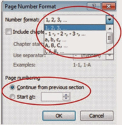 Nomor dan Penomoran dalam microsoft word